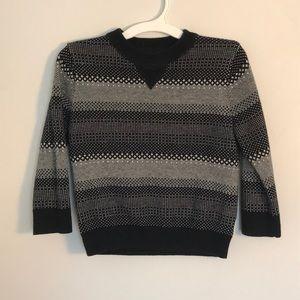 Cat & Jack | boys black/grey patterned sweater 2T
